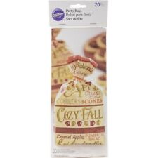 Wilton 40 ct Cozy Fall Autumn Candy Favor Snack Crafts Gifts Party Bags & Ties