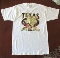 TEXAS Lone Star State Mens Large Tee T Shirt Road Map White Short Sleeve New