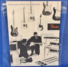 Fender 1958 Downbeat Insert 6 Page Guitar Catalog Reprint P/N 0995503006