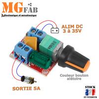 Module PWM 5A 3 à 35V variateur vitesse moteur DC potentiomètre LED | Arduino