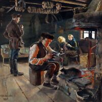 Rustic Life by Akseli Gallen-Kallela. Finnish  Canvas Life Art.  12x12 Print