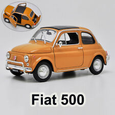 WELLY 1:18 Scale Model Car - Nuova Fiat 500 Diecast Toys Yellow