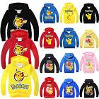 Kids Pokemon Go Jumpers Hoodie Boys Girls Hooded Pullover Sweatshirt Coat Tops