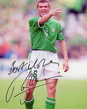 Roy Keane-Repubblica d'Irlanda-SIGNED AUTOGRAFO RISTAMPA