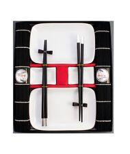 blanc Sushi Set Vaisselle service - Ensemble de 10 pièces pour 2 personnes