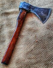 Antique restored carbon steel axe very sharp accetta