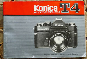 Konica T4 Camera Instruction manual booklet - English & 4 more 79 Pages