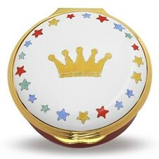 Halcyon Days Crown and Star Round Enamel Box