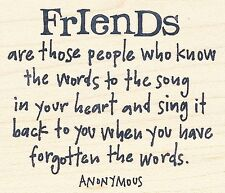 Friends Are Those People  INKADINKADO Rubber Stamp