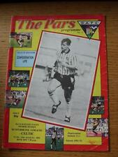 13/08/1991 DUNFERMLINE Athletic V Celtic (piega, piegato, Penna segno sul cover)