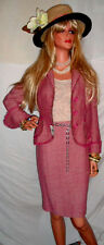 PRETTY PINK ooohh la la ITALY Fashion NWT $2,500 Skirt Suit Vintage MOSCHINO sz8