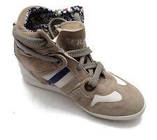 Serafini Zapatos Zapatillas Piel Zapatos Mujer Gris Cuña Interior Mujer 2747