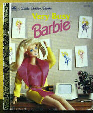"Golden Book ""VERY BUSY BARBIE"" - rare variation edition - ""1st"""