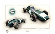 COOPER T55 F1 BRUCE MCLAREN JACK BRABHAM TONY MAGGS 1962 NEW PAINTING PRINT ART