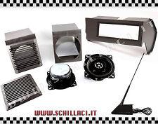 Panda Music KIT - coffers + holders + port car radio e antenna GRIGIO
