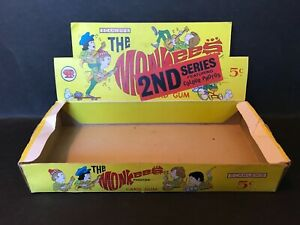 SCANLENS THE MONKEES 2ND SERIES TRADING CARD VINTAGE DISPLAY BOX
