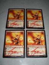 MTG Magic Artist (Steve Argyle) Signed Chinese Chandra Ablaze x4 Zendikar NM