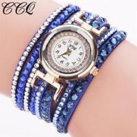 Elegante Damen Armbanduhr Quartzlong Armband Strass Neu Promo