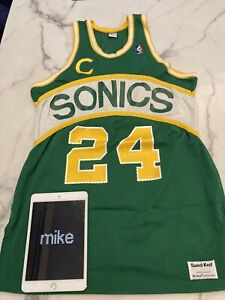 Authentic Sand Knit Seattle SuperSonics Tom Chambers Jersey 44 L