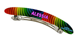 Clamp Slides Print Personalised Clips Hair Picture & Name Gift Idea