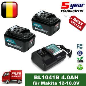 4AH Ersatzakkus für Makita 10,8V/12V BL1041B BL1021B BL1015 mit Ladegerät DC10WD