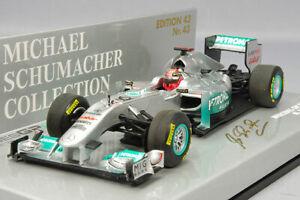 MINICHAMPS MC410110077 1:43 Mercedes GP Show Car 2011 F1 M.Schumacher KIDBOX