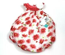 Baby Essentials New Baby Girls Size 9 months Pink Floral Print Bubble Romper