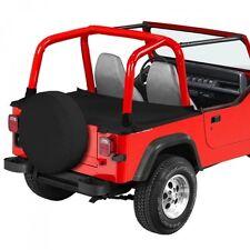 Jeep Wrangler YJ Duster Deck Cover Heckabdeckung schwarz Denim 92-95