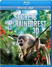 SECRETS OF THE RAINFOREST 3D BLU RAY NATURE FILM ANIMALS SEALED NEW REGION FREE