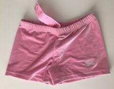 **NEW** GK gymnastics shorts AL leotard shorts adult large pink velvet NEW