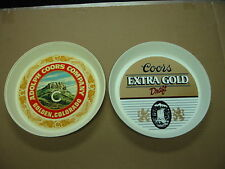 Coors Extra Gold Draft and Adolph Coors Company Hard Plastic Beer Trays