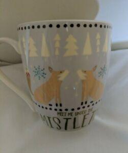 Holiday Meet Me Under The Mistletoe  Coffee Hot Cocoa Mug Pfaltzgraff