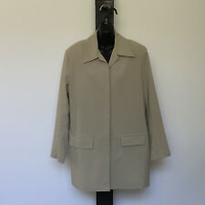 'DOLCE & GABBANA' EC SIZE 'M' TAUPE LONG SLEEVE CONCEALED BUTTON FRONT JACKET