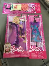 MATTEL BARBIE FASHIONISTA PURPLE RUFFLED GOWN + SHOES & PURSE