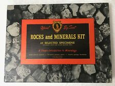 Vintage Official Boy Scout Rocks and Minerals Kit BSA. Cat.2143.