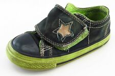 Convers One Star Black Fabric Casual Shoes Toddler Boys Sz 7