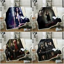 The Vampire Diaries 3D Print Sherpa Blanket Sofa Couch Quilt Cover throw blanket