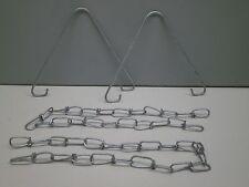 Columbia HC-3 Fluorescent Strip Light Fixture Chain & Hook Mounting Hanger Set
