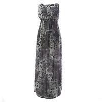 TOPSHOP MATERNITY Women's Grey Animal Print Long Dress 44DO4A US Size 4 NEW
