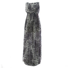 TOPSHOP MATERNITY Women's Grey Animal Print Long Dress 44DO4A US Size 6 NEW