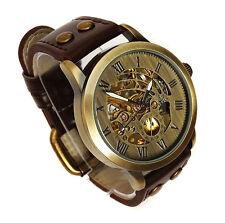 Neat 42mm BRONZE AUTOMATIC Skeleton Military Vintage Style Wrist Watch Brass