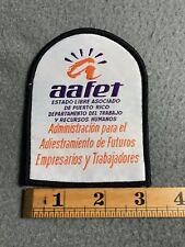 Aafet Estado Libre Asociado De Puerto Rico Departamento Del Trabajo Patch A9