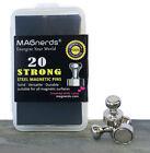 Steel Magnetic Push Pins Neodymium Magnets (Set of 20)