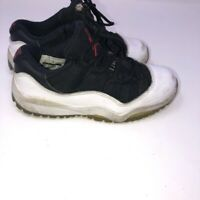 Nike Air Jordan Retro Xi 11 Low Sneakers Black White Kids Shoe Size 11C