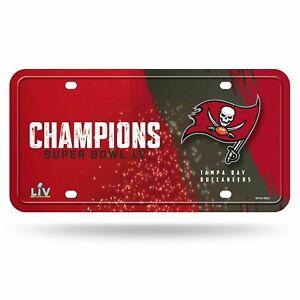 Tampa Bay Buccaneers Super Bowl LV Champions METAL TAG License Plate NWT
