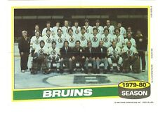 1980-81 Topps Hockey Team Photo Mini Poster Pinup Boston Bruins Mint