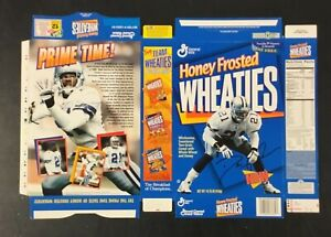Deion Sanders 1995 Honey Frosted Wheaties Cereal Box NEW (Unopened) UnFolded