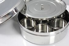 Stainless Steel Spice Dry Fruits Box Food Container Masala Dabba w Inner Lid AU