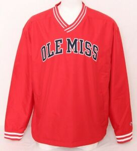 NEW Mississippi Ole Miss Rebels Champion Red Lined Pullover Jacket Men's XL