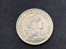 Portugal  1 escudos 1968 Coin high grade condition Rarity #K088